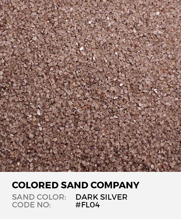 Dark Silver Floral Colored Sand Art Material Fl04 The Colored Sand Company