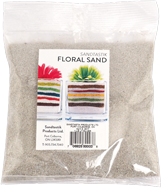 Floral Colored Sand, 1 lb (454 g), Light Silver