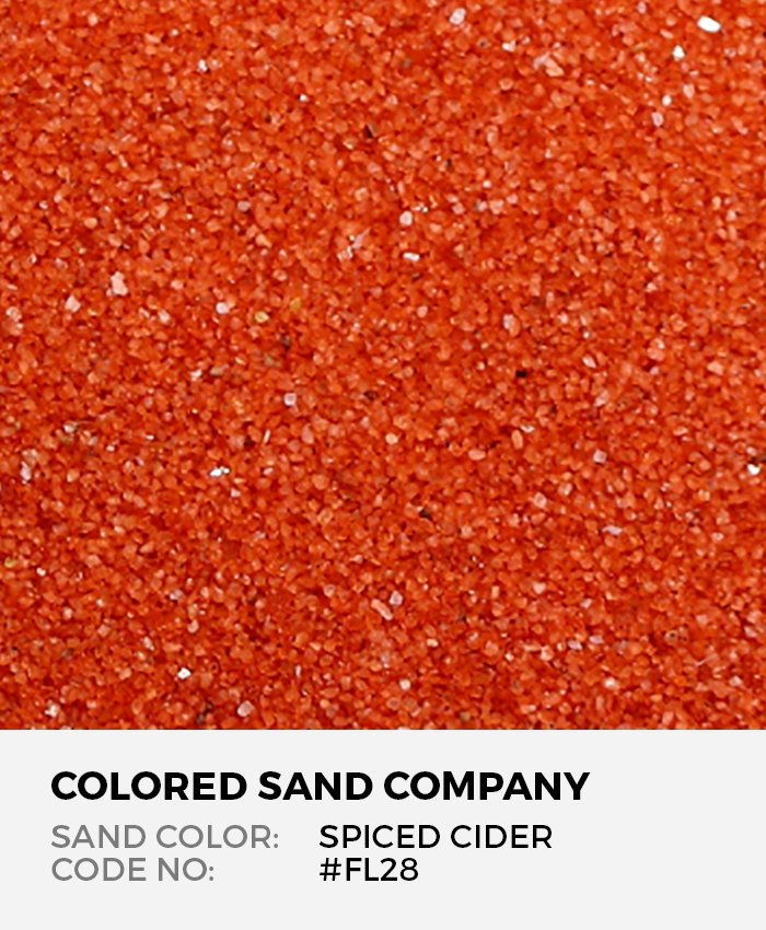 Spiced Cider Orange Red Floral Colored Sand Art Material Fl28 The Colored Sand Company