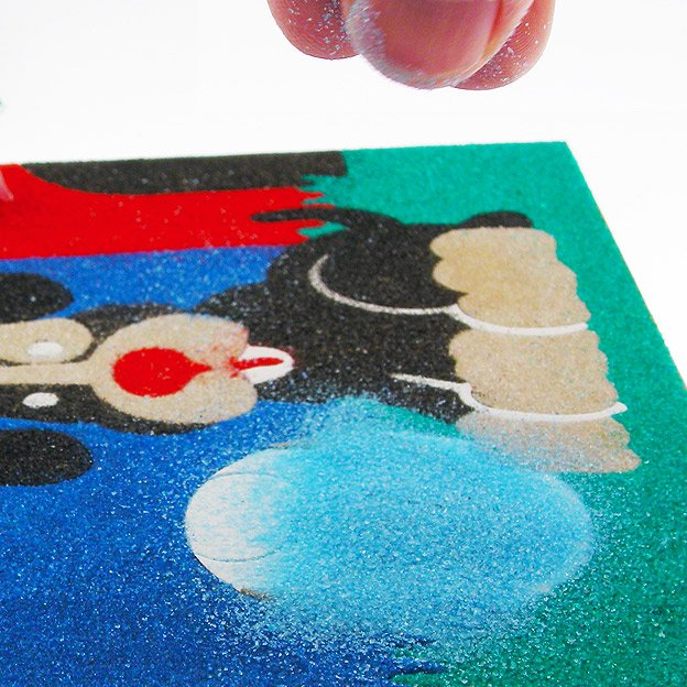 Peel paper layer back to reveal sticky surface
