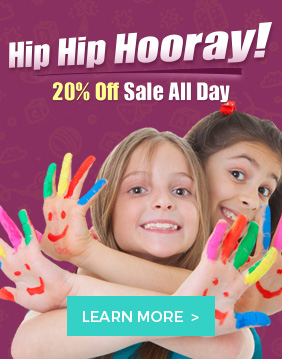 Hip Hip Hooray! 20% OFF Sale All Day at The Colored Sand Company